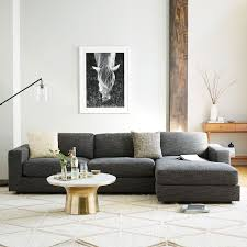 Office chaise Loveseat Marsballoon Urban 2piece Chaise Sectional Large West Elm
