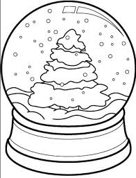 Small Picture Christmas Tree Snow Globe Coloring Page Coloring Book