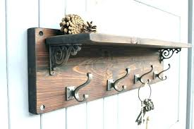 wall hook rack pottery barn coat hooks awesome and shelf oasis fashion with ideas mounted potte