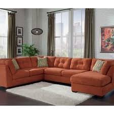 burnt orange living room furniture. exchange burnt orange rust sofa benchcraft furnitureliving room living furniture