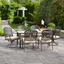 7 piece patio dining set. I Know At Least A Few Of You Are Searching For New Patio Set, Amiright?! Am, And This Deal From Home Depot Came Along Just The Right 7 Piece Dining Set E