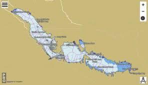 Lake Pleasant Az Depth Chart Theodore Roosevelt Lake Fishing Map
