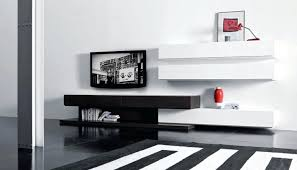 Awesome design black white Nail Art Black White Tv Unit Designs Stand Modern Design Dark Floor Floating Shelves Ideas Awesome Futuristic Supplied Aprar White Tv Unit Designs Black Wave Wide Cabinet Stand With Bracket Up