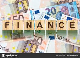 Word Backgrounds Word Finance Composed Letters Wooden Building Blocks Background Euro