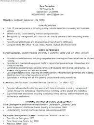 Janitor Resume Sample Impressive Janitor Resume Objective Maintenance Resume Objective Resume Ideas Pro