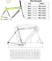 Cannondale Mountain Bike Frame Size Chart Cannondale Supersix Evo Size Chart Carbon Road Bike