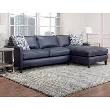 leather couches. Griffith Top Grain Leather Sectional, Navy Blue Couches