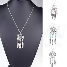 Where To Buy Dream Catchers In Singapore Silver Fashion Bohemia Retro Jewelry Dream Catcher Pendant Chain 12