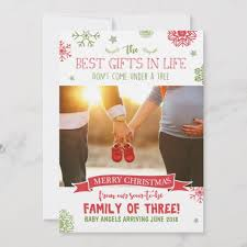 Merry Christmas Pregnancy Announcement Card