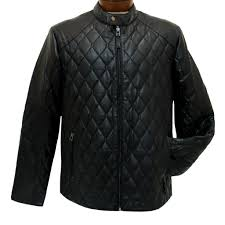 men s scully premium lambskin quilted leather jacket 1001 black