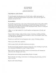 Objective Examples For Resumes Housekeeping Resume Objective For Study Supervisor Examples 94