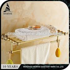 towel warmer rack. WANFAN Hot Selling Bathroom Accessory Crystal Golden Towel Rack Wall Mounted, Luxurious Warmer