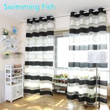 Striped Living Room Curtains Online Get Cheap Black Striped Curtains Aliexpresscom Alibaba
