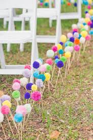 45 inspirational boho wedding decor ideas colourful aisle markers chwv