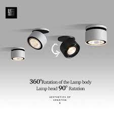 Đèn LED Âm Trần Downlight Góc Điều Chỉnh Đèn LED Chiếu Điểm 220 V Trắng/Đen  10W 15W CREE Chip Hành Lang Sống phong Cho Chiếu Sáng Trong Nhà Special  Engineering Lighting