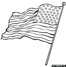 American Flag Color Page Printable Flag Coloring Page Free Us Flag