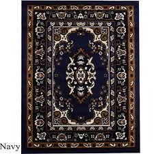 large traditional persian style rug 7 ft 8 inches x 10 ft 4 inches navy blue 103
