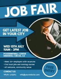 Customizable Design Templates for Job Fair Flyer | PosterMyWall