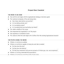 Screenshot Of Project Risk Checklist Templates For Flyers Word ...