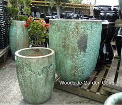 extra large tall opal green glazed pot