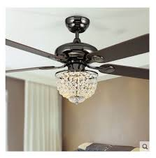 wondrous bedroom fan lights for the eating area 52inch led chandelier light modern new crystal restaurant fashion with remote control