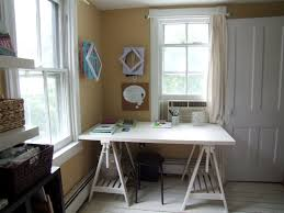 office room ideas for home. Office:Simple Office Room Ideas In Home With White Glass Window And Cream Wall Paint For