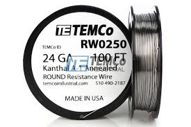 24 Gauge Kanthal Build Chart Kanthal A1 Wire 24 Awg Rw0250 100 Ft 1 57 Oz Series A 1 Resistance