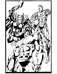 Small Picture Iron Man Thor Hulk Captain America Coloring Page H M Coloring