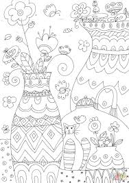 Small Picture Flower Vases coloring page Free Printable Coloring Pages