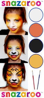 simple and easy beginners face painting tiger design by anna proc for snazaroo snazaroo