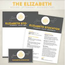 Resume Business Card And Letterhead Design Pack