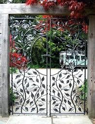 decorative metal fences and gates small garden gate ornamental wrought iron