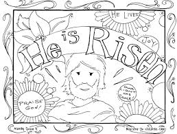 Coloring Page Jesus Has Risen New 25 Religious Easter Coloring Pages