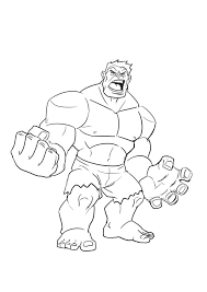 The hulk's original appearance saw him in his intended color of gray. Hulk Drawing Outline