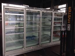upright glass door remote freezers