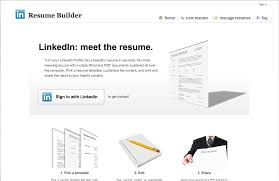Linkedin Resume Generator Resume Template Ideas