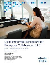 Cisco Validated Design Collaboration Cisco Preferred Architecture For Enterprise Collaboration