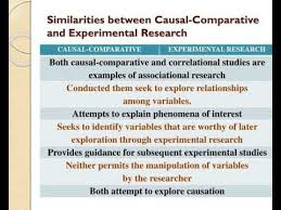 Causal Comparative Study Causal Comparative Youtube