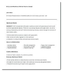 Warehouse Worker Job Description For Resume - Roddyschrock.com