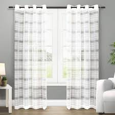 ATI Home Michel Grommet Top Sheer Curtain Panel Pair (Michel White 108-inch)