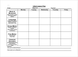 Downloadable Lesson Plan Templates Lesson Plan Template For Toddlers Infant Toddlers Lesson Plans