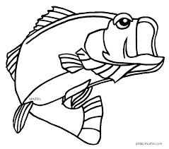 bass fish coloring pages. Modren Coloring Bass Fish Coloring Pages  Clipart Panda  Free Images Jpg Black  And White Download Throughout S