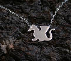 baby dragon sterling silver pendant forest friends collection welsh dragon exclusive design eco friendly natural or black silver