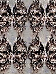 skull wall art painting drawing tattoo sketch creepy skull wall art print poster sugar skull metal