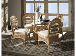 tropical dining room furniture. armless rattan dining set of 5 tropical breeze room furniture r