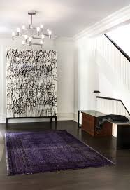 stark rugs entry contemporary with area rug art bench black and white