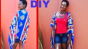 Diy African Print Kimono Jacket From Wrapper Youtube