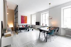 it is perfectly balanced and decorated considering its small size i like the combination of the white floor with black furniture and nice color accents blacks furniture