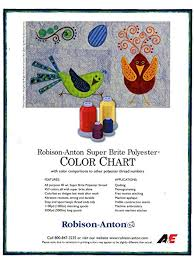 Robison Anton Polyester Embroidery Thread Chart Robison Anton Polyester Thread Paper Color Chart Amazon In