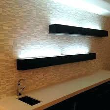 glass shelf lighting. Under Shelf Led Lighting Installing Strip Lights Cabinet Throughout In Shelves Idea 11 Glass